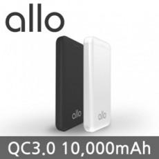 [알로] 초고속충전 슬림 보조배터리 allo1100QC [10000mAh]