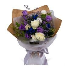 화이트 퍼플 꽃다발