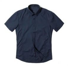[빅사이즈]남자남방 베이직 슬림핏 반팔 셔츠