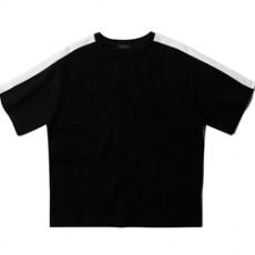 [남녀공] 티셔츠 배색라인 무지 반팔티