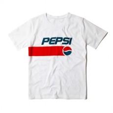 남녀공용 티셔츠 펩시 프린팅 반팔티셔츠