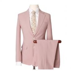 슬림핏 핑크 싱글수트 2pcs