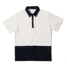 남자티셔츠 밑단 배색 카라티