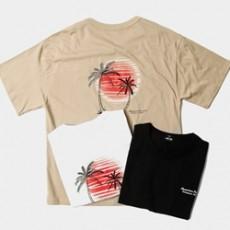 하와이안 야자수 오버핏 티셔츠
