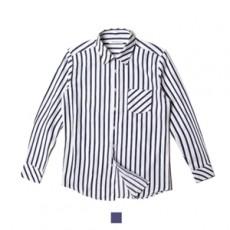 남자셔츠 네이비 스트라이프 긴팔 셔츠
