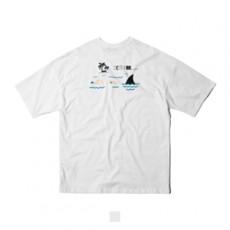 남녀공용 스윔풀 프린팅 오버핏 반팔티셔츠