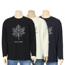 낙엽 모자이크 티셔츠