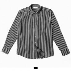 블랙 스트라이프 긴팔 셔츠