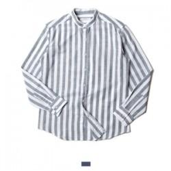 차이나카라 스트라이프 긴팔 셔츠