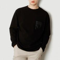 남자티셔츠 레자포켓 긴팔 티셔츠