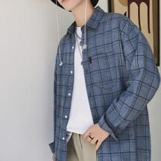 남자바둑무늬남방셔츠