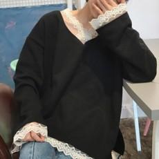 호렌 레이스 트임 티셔츠