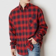 캐주얼 체크 루즈핏 긴팔 셔츠