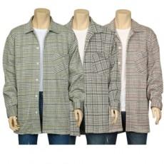 셔츠 체크 코트