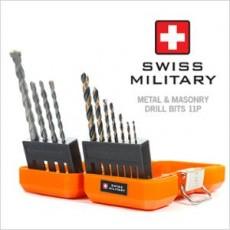 [스위스 밀리터리] 금속 & 석재 드릴비트 세트 (11P) BT-5