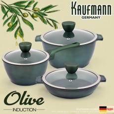 독일 카우프만 올리브 인덕션 냄비 3종 세트(A형) KOC-A6P