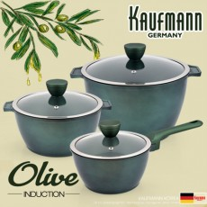 독일 카우프만 올리브 인덕션 냄비 3종 세트(B형) KOC-B6P