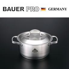 독일 명품 바우어 프로 3중바닥 스텐냄비 18cm양수