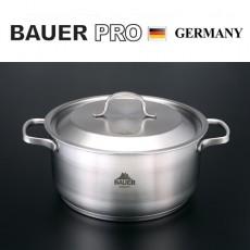 독일명품 바우어 프로 3중바닥 스텐냄비 24cm양수
