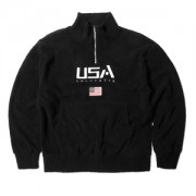 양털 USA 아노락 티셔츠
