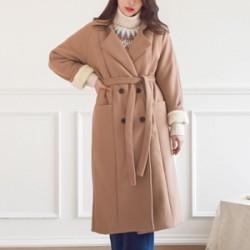 포리딘 양털 더블 코트