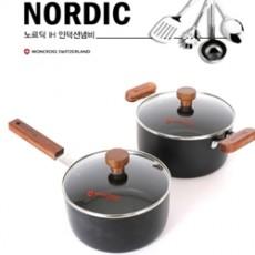 몽크로스 노르딕 IH 인덕션 2종 냄비세트(편수18cm, 양수20cm)