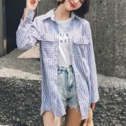 [빅사이즈]투포켓스트라이프셔츠