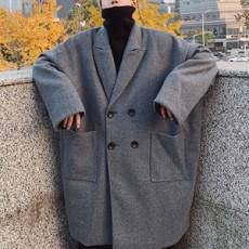 남성 겨울 오버핏 코트