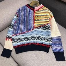 컷팅 컬러배색 믹스매칭 울혼방 니트 스웨터