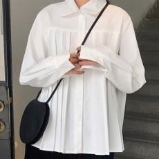 유니 라운딩카라 셔츠