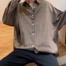 남성 봄 슬리브 패턴 셔츠