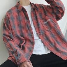 남성 캐쥬얼 레터링 셔츠