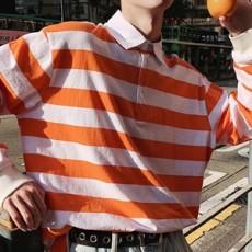 줄무늬 남성 카라티셔츠