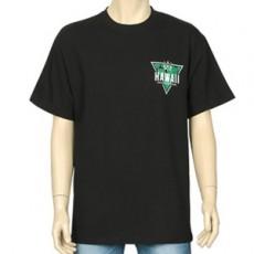 하와이 프린팅 반팔 티셔츠