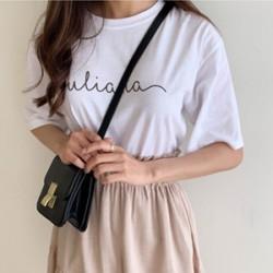 뮬리 영문레터링 티셔츠