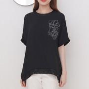 블링 레이스 반팔 티셔츠