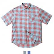 남녀공용 캐주얼 체크 오버핏 반팔셔츠