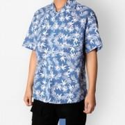 하와이안 야자수 스카이 반팔셔츠