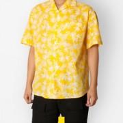 하와이안 야자수 옐로우 반팔셔츠