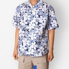 하와이안 플라워 스카이 반팔셔츠