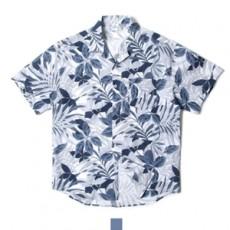 하와이안 플로라 네이비 반팔셔츠