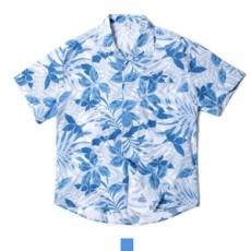 하와이안 플로라 스카이 반팔셔츠