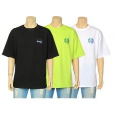 지구본 프린팅 반팔 티셔츠