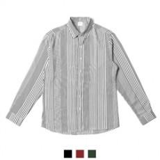 찰랑 핀 스트라이프 루즈핏 남자셔츠