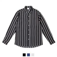 찰랑 트렌디 스트라이프 루즈핏 남자셔츠