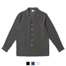 유니크 스트라이프 카치온 남자셔츠