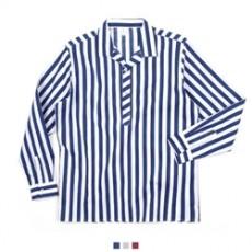 스트라이프 반오픈카라 남자셔츠