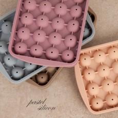 파스텔 실리콘 신형 아이스원형 24구 4color