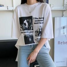 루미트 루즈 나염티셔츠